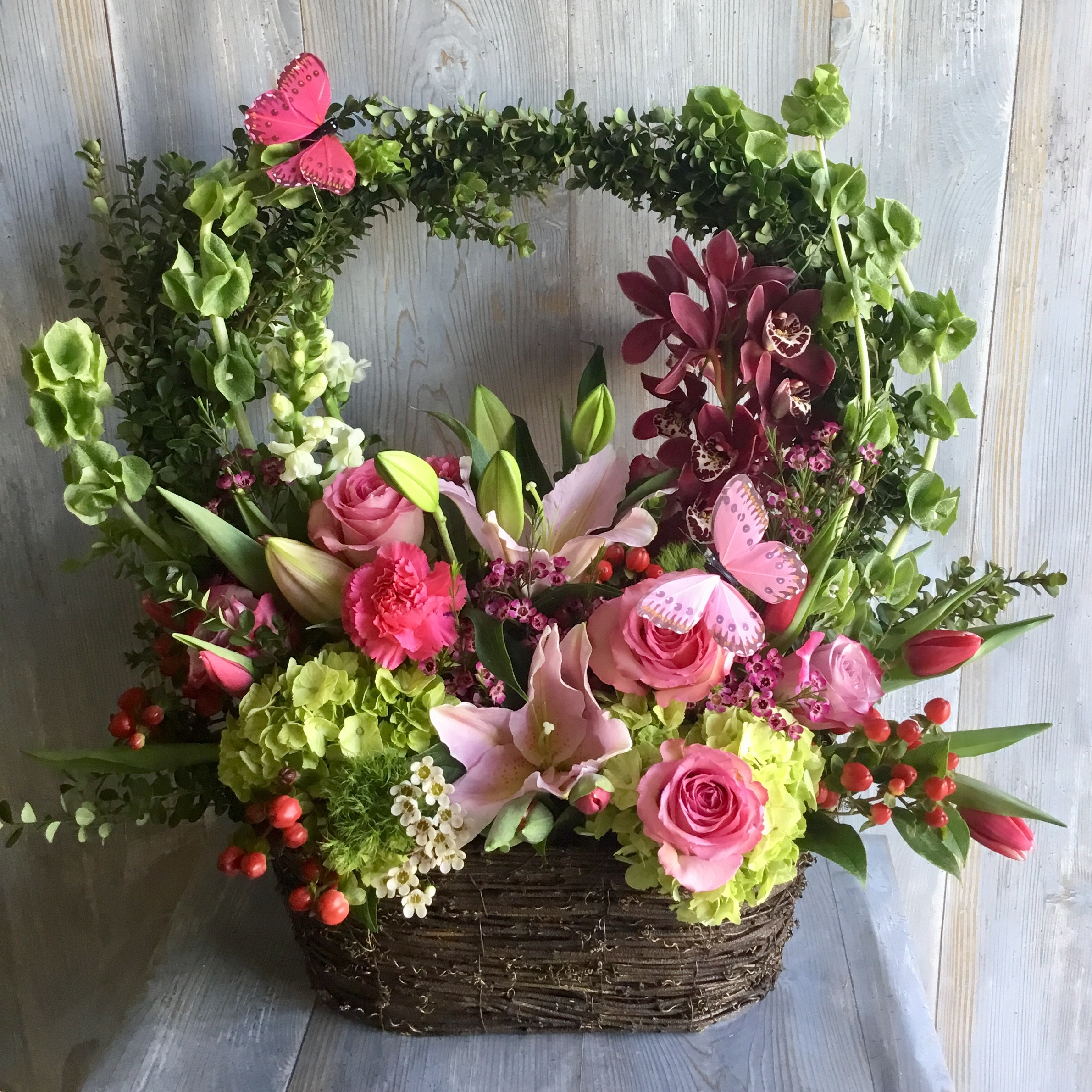 Spring Time Colorful Archway Basket