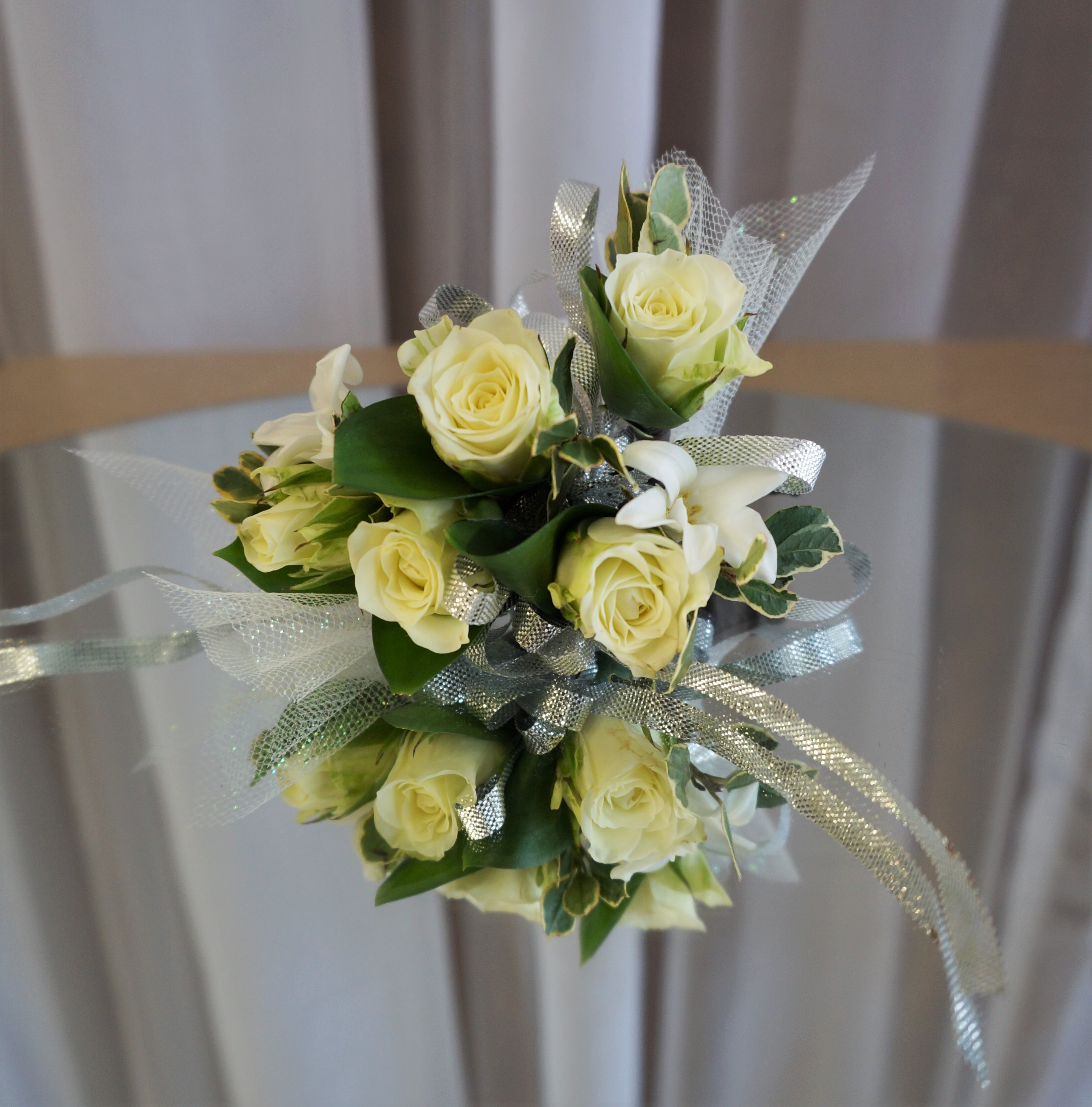 Spray Rose and Orchid Corsage