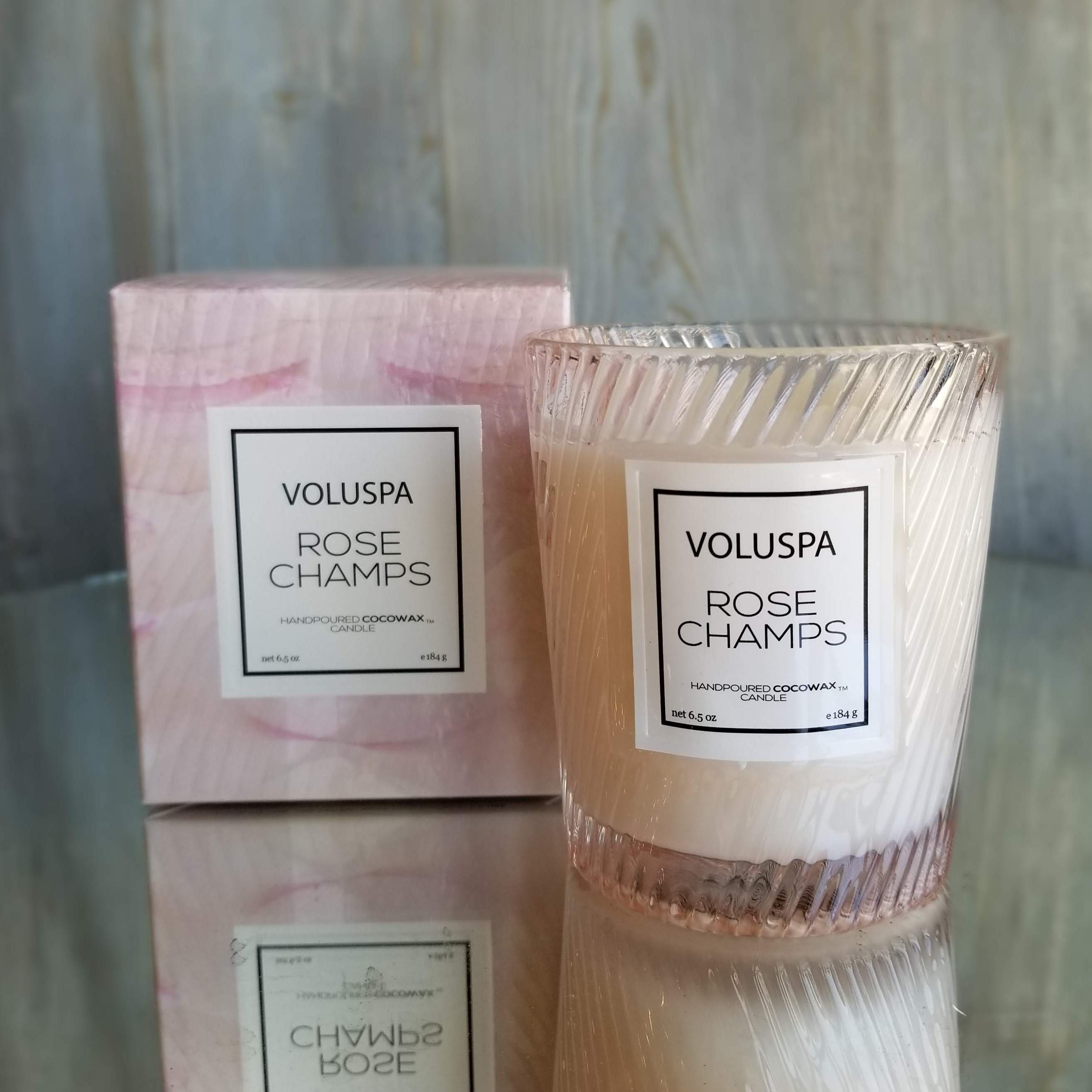 Voluspa Classic Glass Candle:Rose Champs