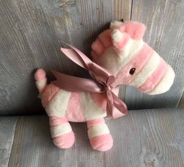 Pink Zebra Plush