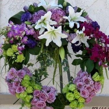 Garden Round Wreath
