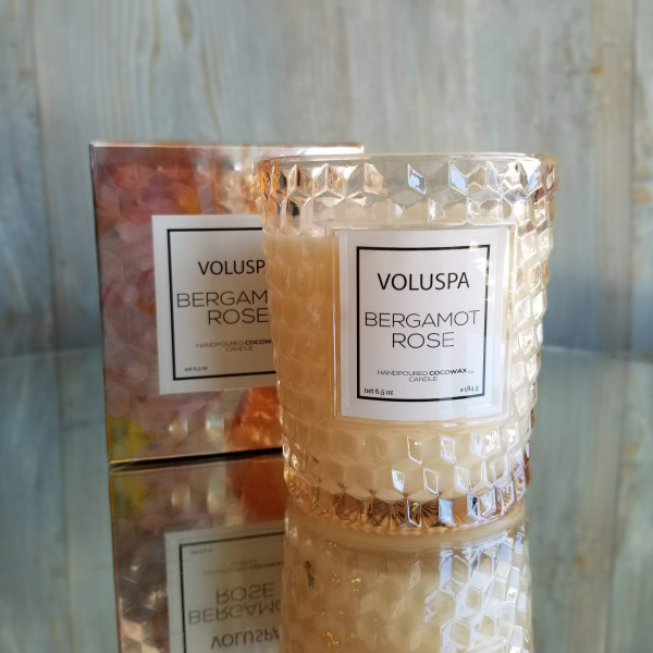 Voluspa Classic Glass Candle: Bergamot Rose