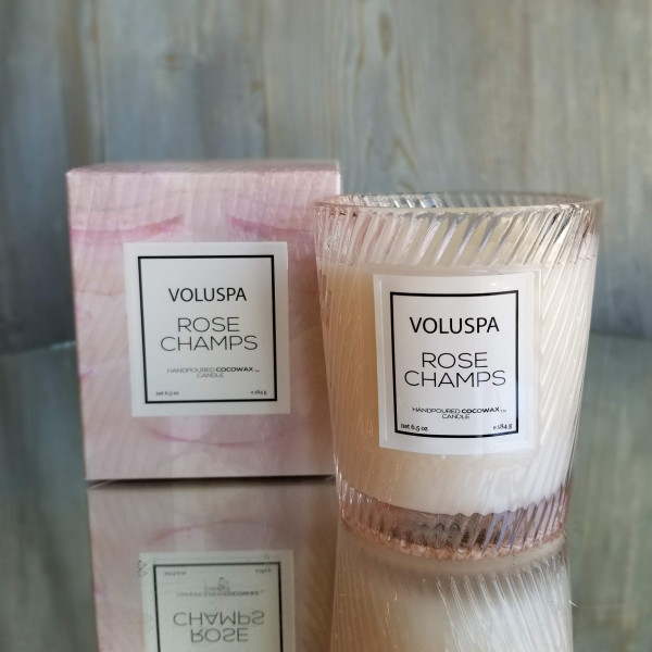Voluspa Classic Glass Candle:Rose Champs