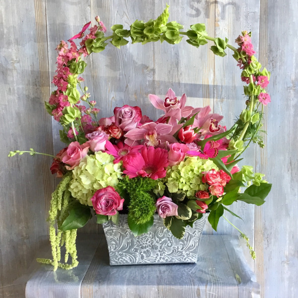 Sweet Green Archway Basket