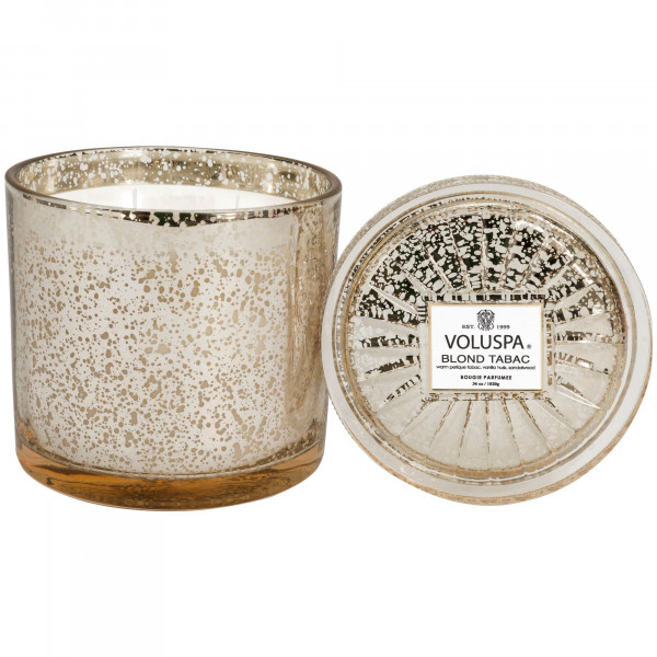Voluspa Blond Tabac Grande Candle with Lid