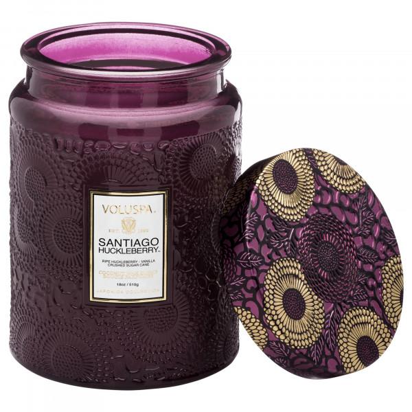 Voluspa Santiago Huckleberry Large Glass Jar