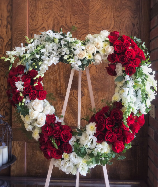 Flowers Fill Your Heart Wreath