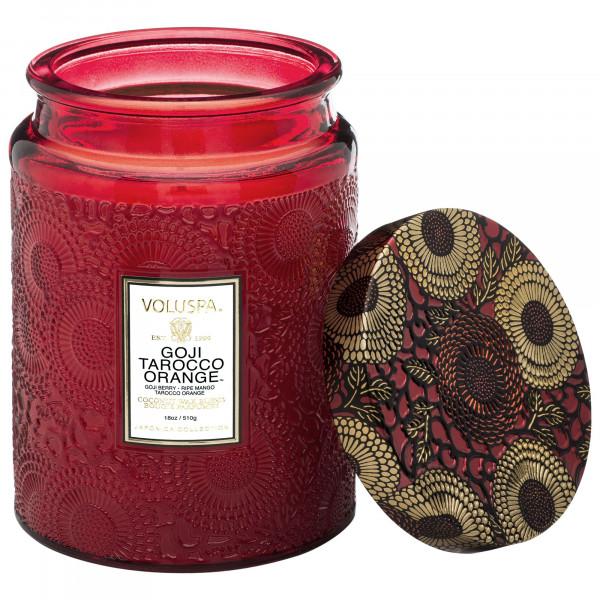 Voluspa Goji Tarocco Orange Large Glass Jar Candle