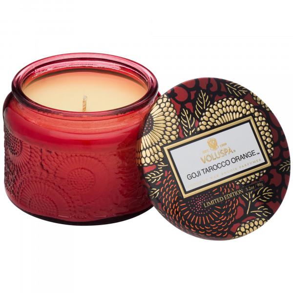 Voluspa Small Jar Candle: Goji Tarocco Orange