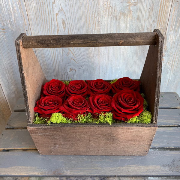 Permanent Rose Red Wood Box 8