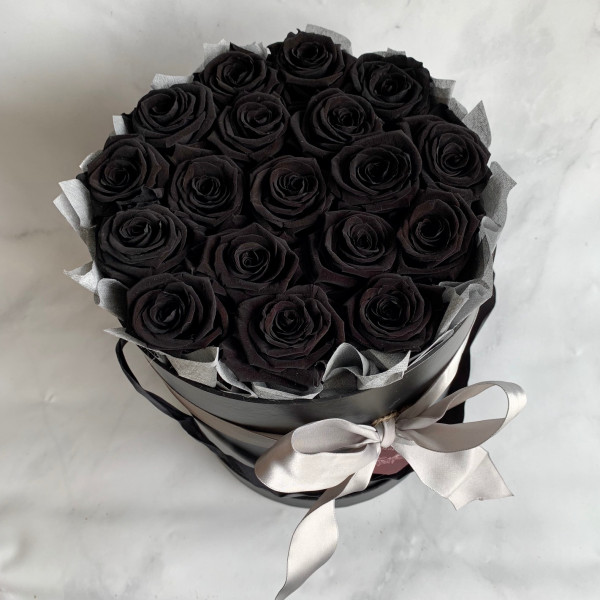Permanent Rose Box - Black