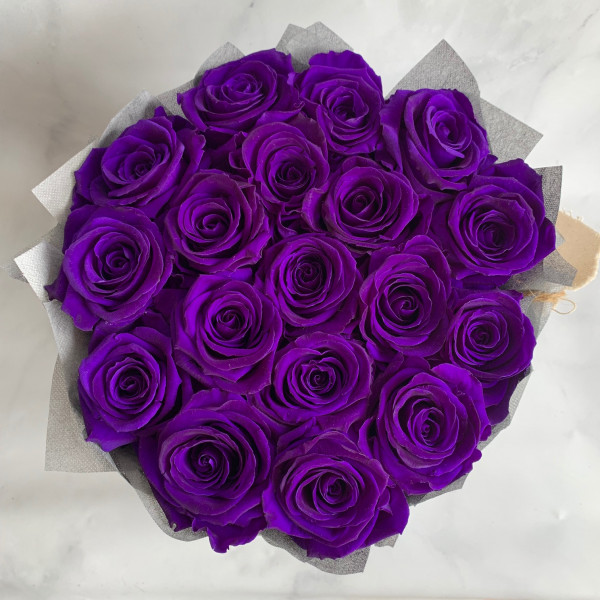 Permanent Rose Box - Deep Purple