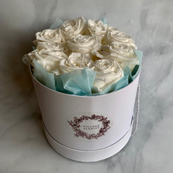 Permanent Rose Box - White