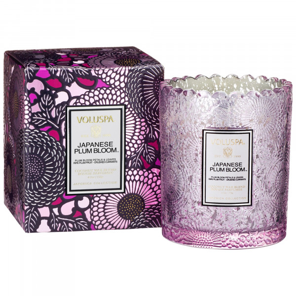 Voluspa Classic Glass Candle: Japanese Plum Bloom