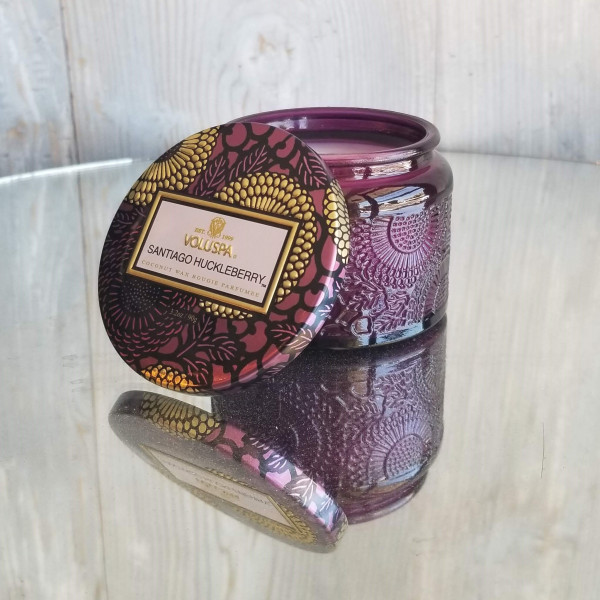 Voluspa Small Jar Candle: Santiago Huckleberry