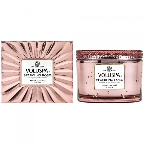 Voluspa Sparkling Rose Boxed Candle