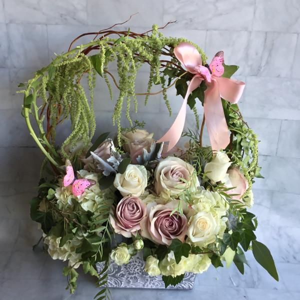 Pink Fairyland Archway Basket